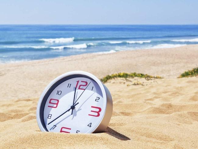 Sommartid gäller från natten till söndag.