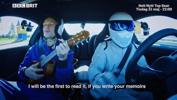 Här sjunger Björn Gustafsson för Top Gear-stjärnan