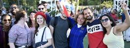 Här firar fransmännen  VM-guld i Folkets park