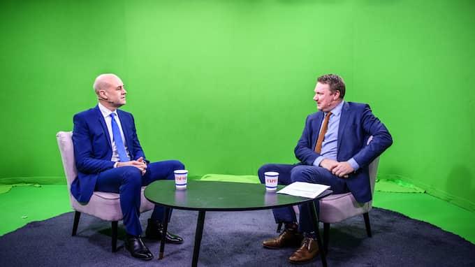 """Förra statsministern Fredrik Reinfeldt frågas ut i onsdagens """"Bara Politik"""" i Expressen TV. Foto: ANNA-KARIN NILSSON / ANNA-KARIN NILSSON EXPRESSEN"""