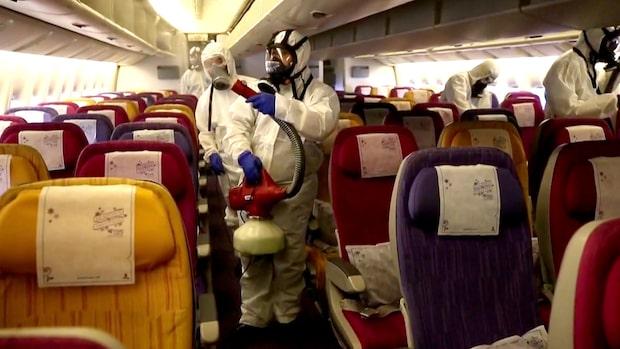 Flygbolagets drag efter coronaviruset: Sprejar igenom hela planet