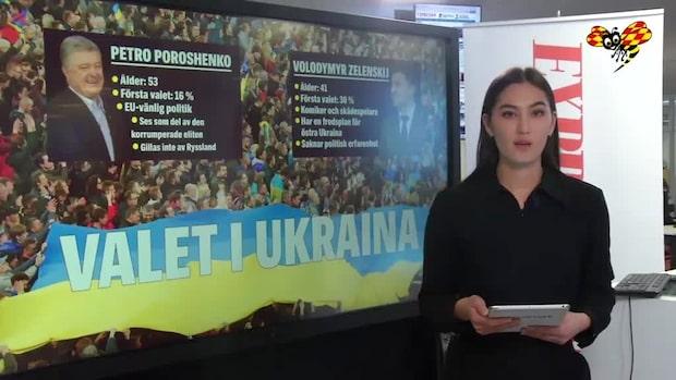 En komiker och en president möts i Ukrainas val