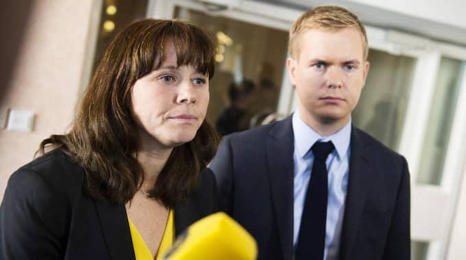 Miljöpartiets Åsa Romson och Gustav Fridolin. Foto: Anna-Karin Nilsson