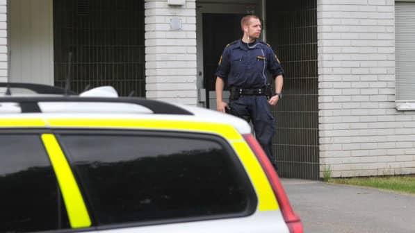 Det var en anhörig som larmade polisen om det misstänkta mordet. Foto: DAVID HÅRSETH