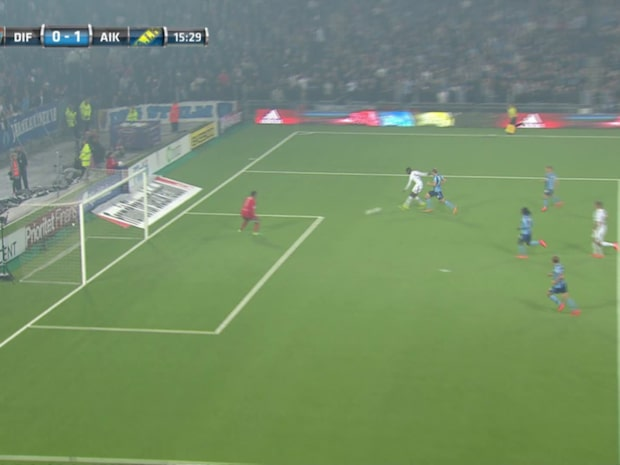 Isak gör 1-0 för AIK