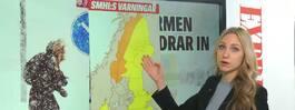 TV: Här slår stormen Jan hårdast i Sverige