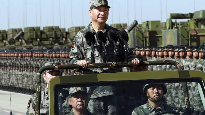 Kina och president Xi Jinping vill inte förändra maktbalansen på koreanska halvön. Foto: LI GANG / AP/ TT