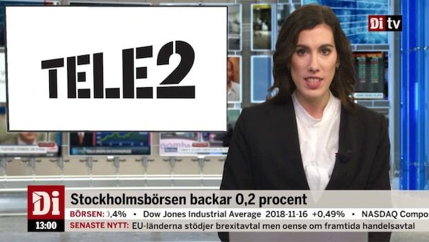 Di Nyheter 13.00 19 november - Tele2 ner efter sänkt rekommendation