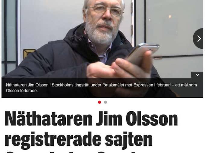 Och hur Granskning Sverige har kopplingar till hatsajten Fria Tider. Foto: Faksimil Expressen.se
