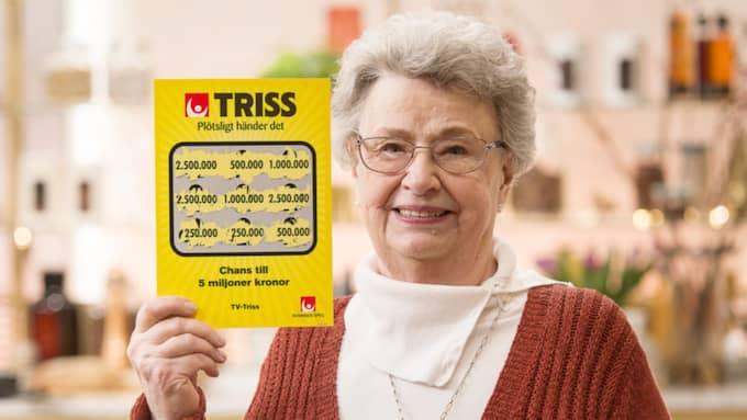 Mariann Tell, 72, från Spånga, vann 2,5 miljoner kronor. Foto: TV4