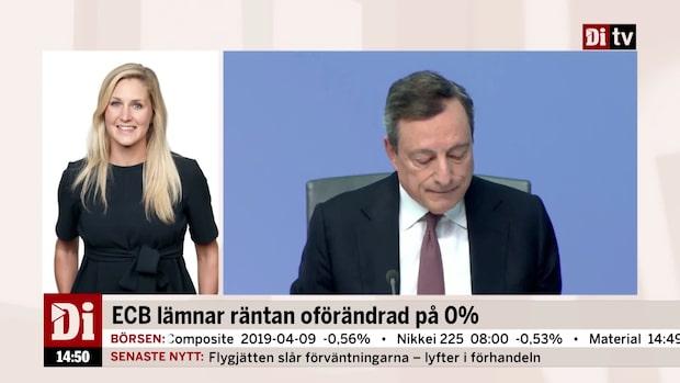 """Fransson om ECB: """"Som väntat var det väldigt lite som kom ut av beskedet"""""""