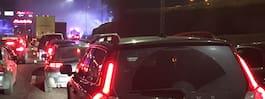 Brinnande fordon på E4 – långa köer