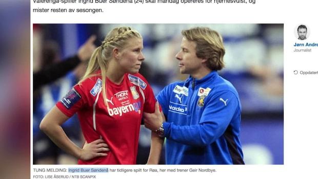 Norska fotbollsspelaren har drabbats av hjärntumör