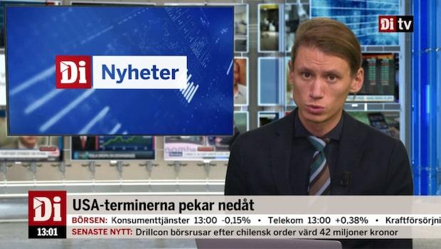 Di Nyheter 13.00 17 okt - USA-terminerna pekar nedåt