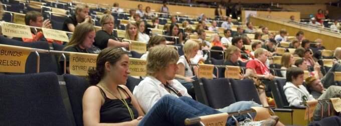 Anklagat förbund. SSU skakas nu av ännu en skandal då ungdomsförbundet i Norrbotten anklagas för att ha fuskat till sig miljonbelopp i form av bidrag. Bilden är tagen från SSU-kongressen 2007 och personerna på bilden har inget med den aktuella händelsen att göra. Foto: Leif R Jansson