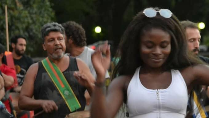 Victoria Denise Tcha ska visa upp svensk candombe för Montevideos kräsna publik. Foto: Privat
