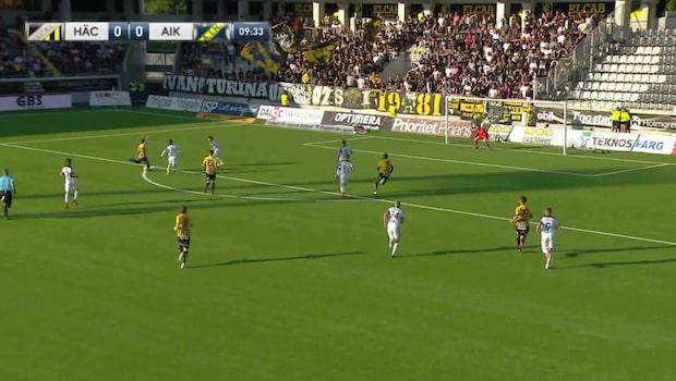 Paulinho sätter 1-0 för Häcken
