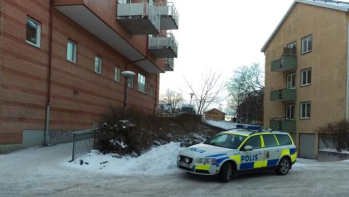 Enligt ett vittne ska rånet ha inträffat i ett bostadsområde i centrala delarna av Åkersberga. Foto: Läsarbild