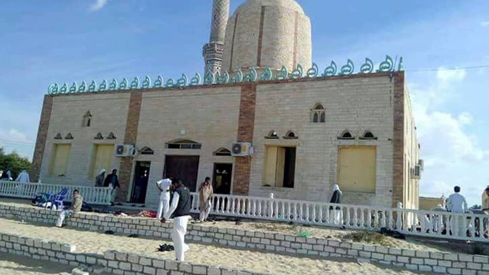 Moske i uppsala attackerad