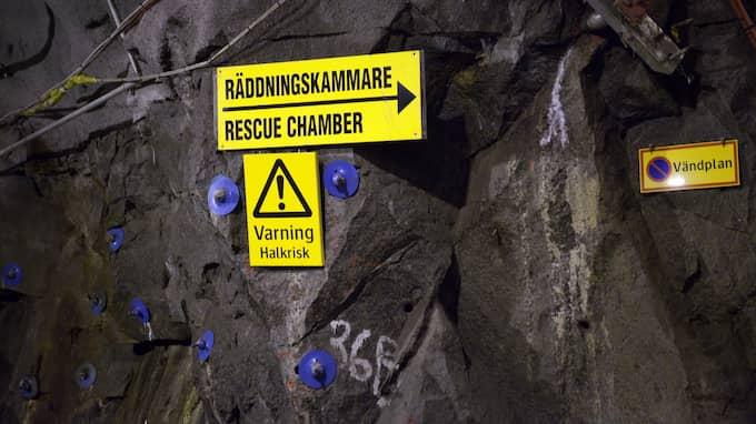 På Äspölaboratoriet i Oskarshamn har man byggt ett utrymme 450 meter under marken för att se så att deras plan för ett slutförvar fungerar. Foto: SANNA DOLCK / KVP