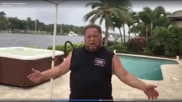 Miljonären Leif-Ivan Karlsson trotsar orkanen Irma