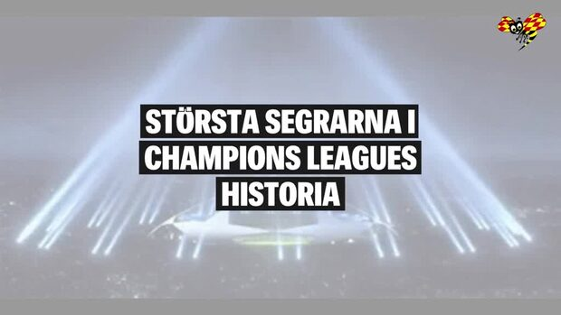 Största segrarna i Champions Leagues historia