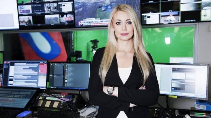 Tess Ulander är programledare på Expressen TV. Foto: Olle Sporrong