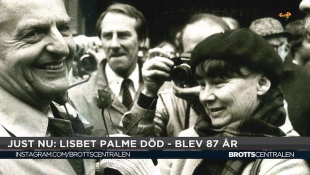 """Silbersky om Lisbet Palmes död: """"Får nog leva med att mordet på Olof Palme blir ouppklarat"""""""