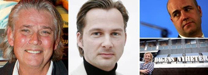 Från vänster: PR-experten Paul Ronge ser en helt ny trend efter bråket mellan Reinfeldt och Dagens Nyheter. PR-experten Niclas Lövkvist tror inte att regeringen var ute efter att kritisera, utan att få ut sitt budskap. Foto: Roger Vikström, Stefan Forsell, Seamus Murphy och Scanpix