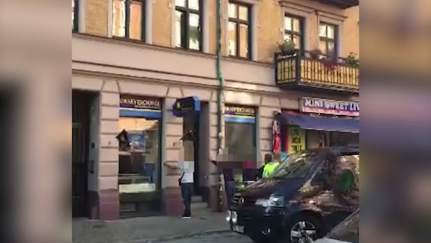 Här grips männen i centrala Malmö