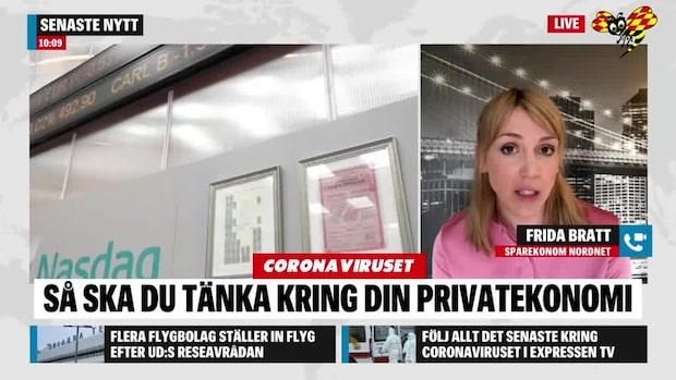 """Frida Bratt om börsen: """"Har nog inte sett botten"""""""