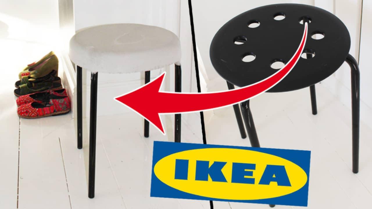 billig pall fr n ikea f rvandlas till betongpall leva bo. Black Bedroom Furniture Sets. Home Design Ideas