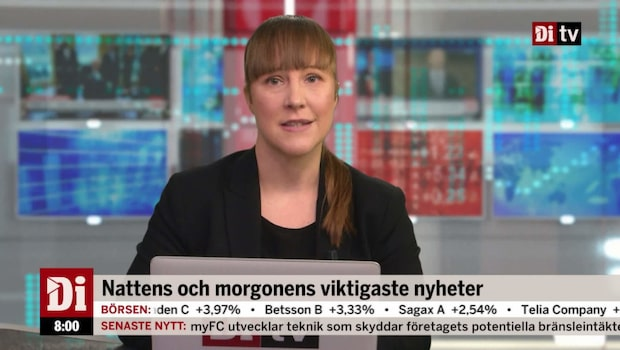 Di Nyheter 08.00 17 oktober - Castellum överträffar förväntningarna