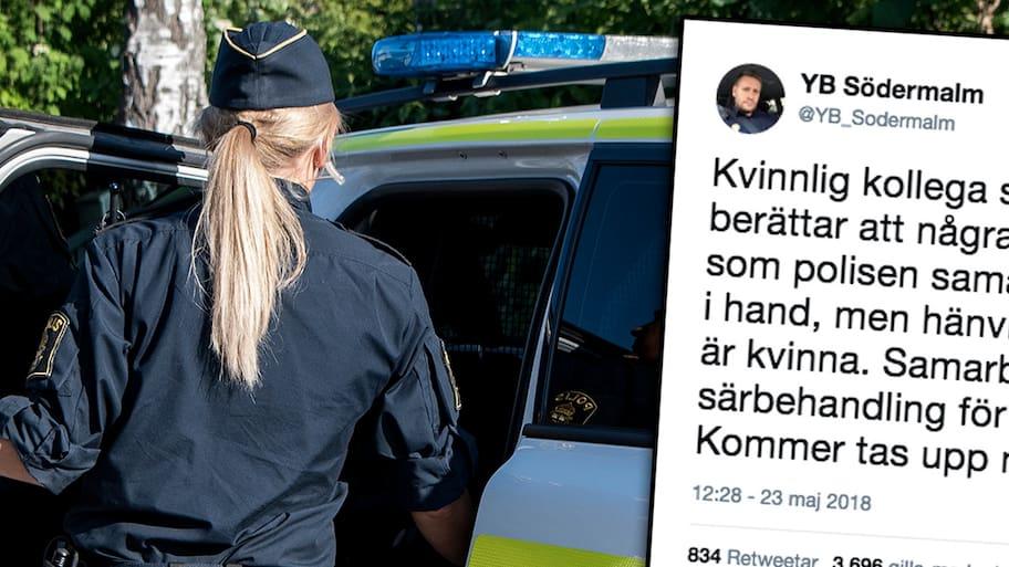 En manlig trygghetsvärd som arbetar åt SL, Storstockholms lokaltrafik, ska