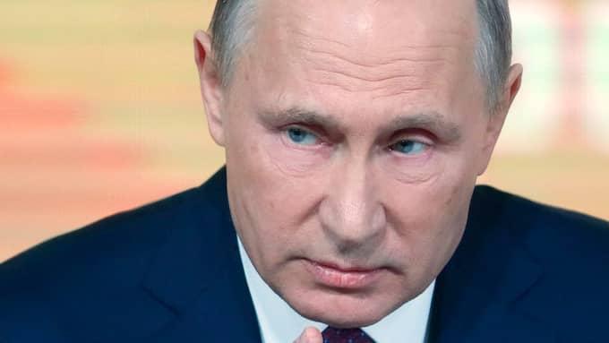 Rysslands president Vladimir Putin. Foto: YURI KOCHETKOV / EPA / TT / EPA TT NYHETSBYRÅN
