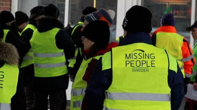Missing People sökte efter den försvunna flickan. Foto: Christian Svensson