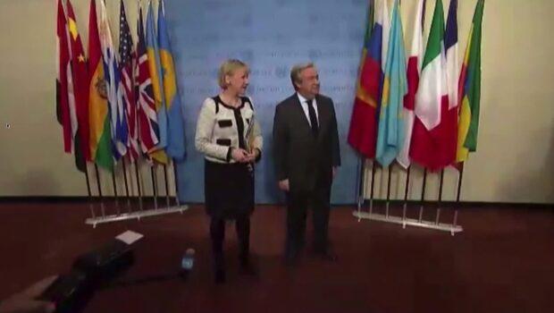 FN:s säkerhetsråd håller möte i Sverige