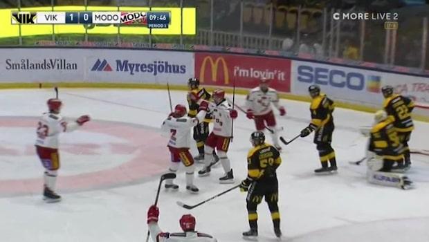 """NHL-stjärnan med första målet i Modo: """"Otroligt snyggt"""""""