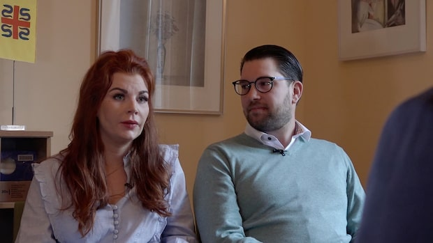 Louise Erixon och Jimmie Åkesson i intervju med Niklas Svensson