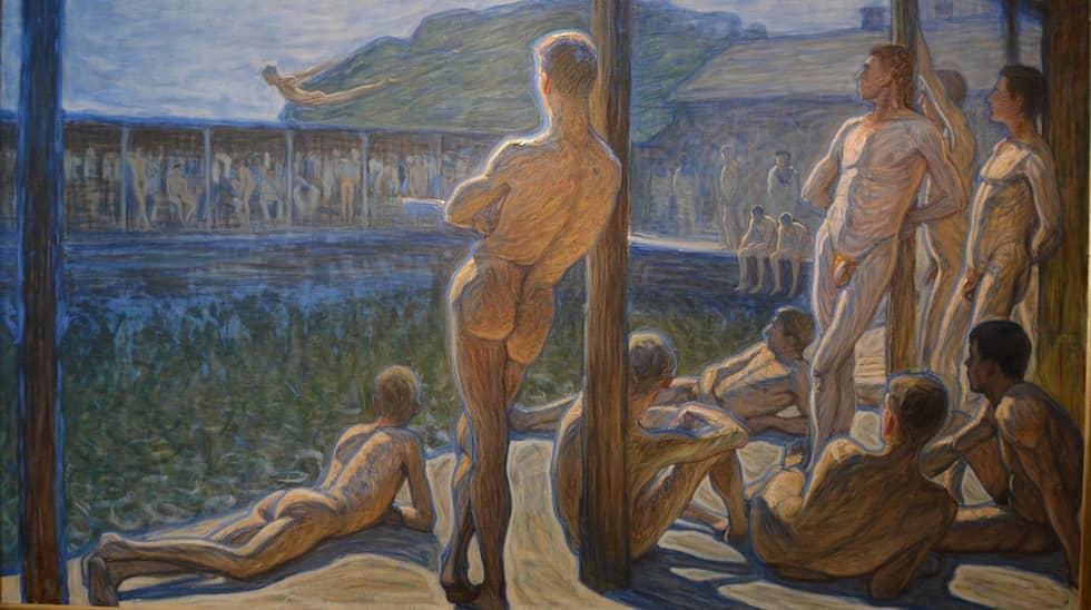 """Eugene Jansson """"Flottans badhus"""" (1901)."""