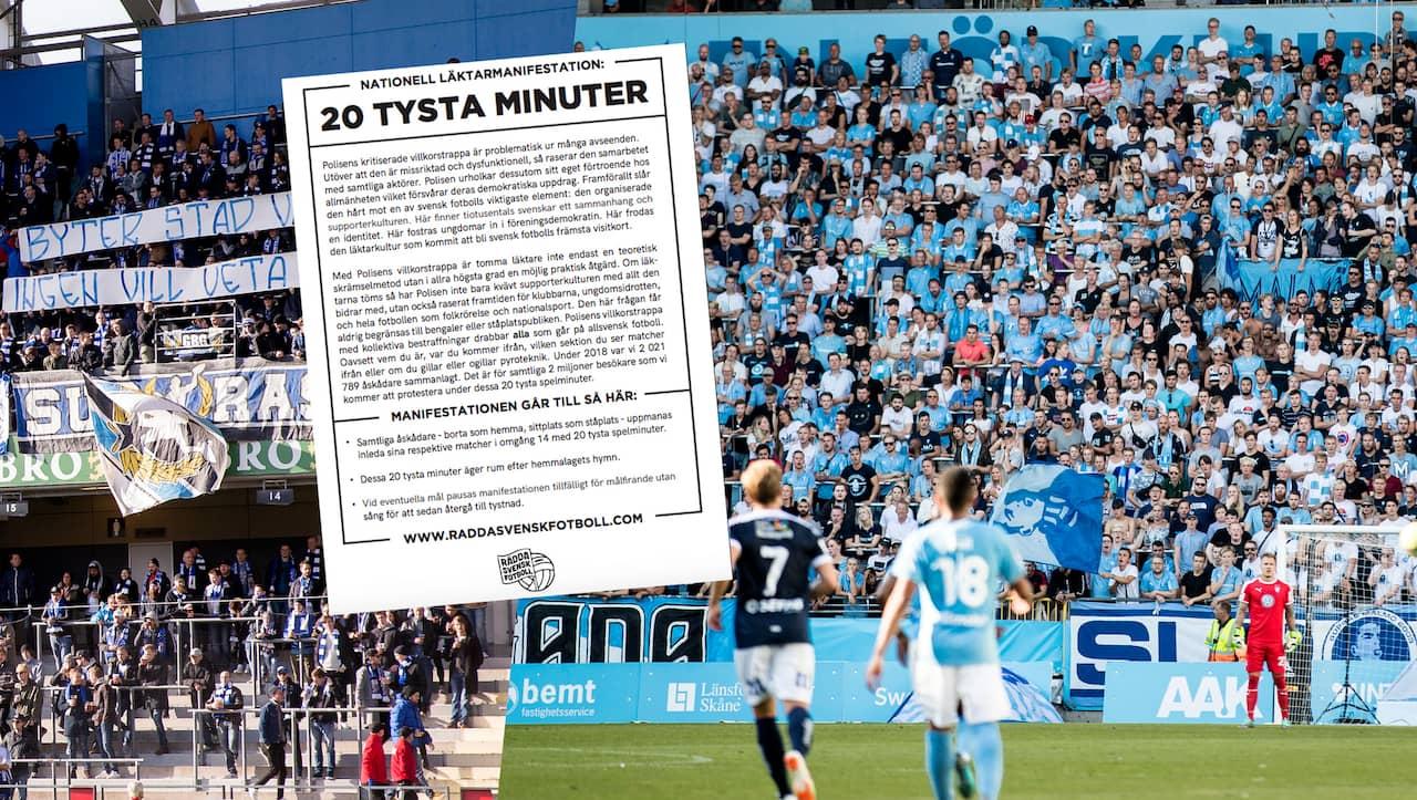 Allsvenska fansens nya protest: 20 tysta minuter