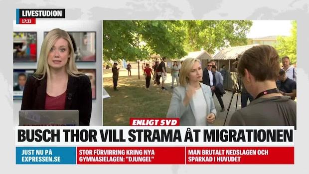 Ebba Busch Thor: Strama åt migrationen som grannländerna