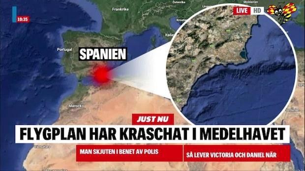 Militärplan har störtat i Medelhavet