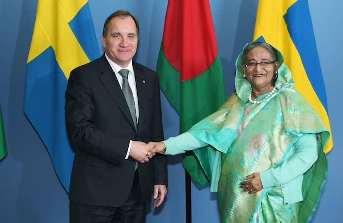 Angreppet på Anwar Hossain skedde när statsminister Stefan Löfven tog emot Bangladeshs premiärminister H.E. Ms Sheikh Hasina Wajed på Rosenbad. Foto: FREDRIK SANDBERG/TT / TT NYHETSBYRÅN
