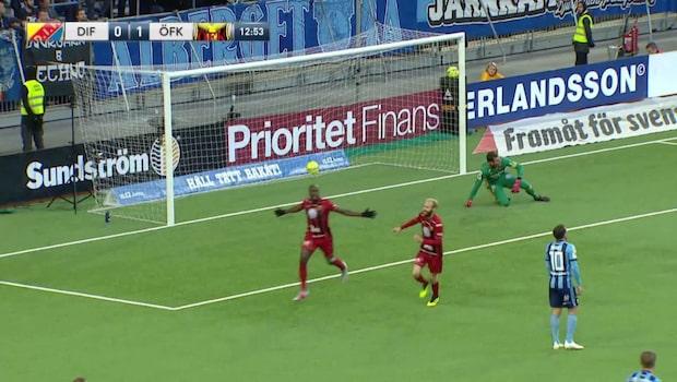 Östersund gör 1-0 mot Djurgården