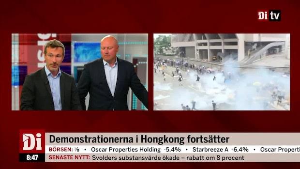 Ekman: Borde inte ta protesterna i Hong Kong med ro