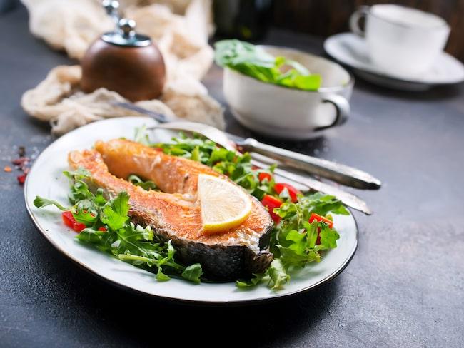 Fisk är en bra källa till D-vitamin.
