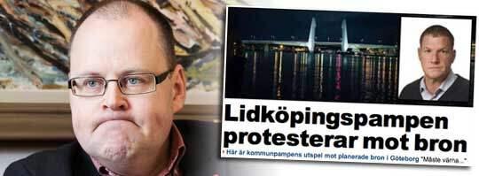 Det infekterade bråket om bron över Göta älv fortsätter. Foto: Anders Ylander