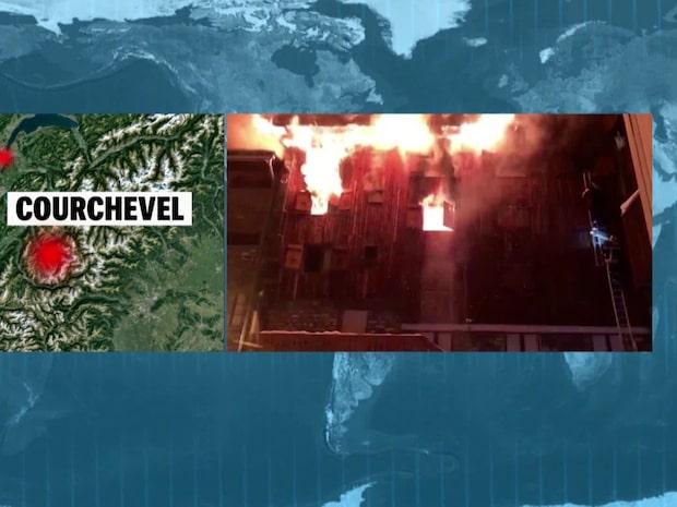 Flera döda i jättebrand på populär skidresort