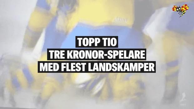 Här är Tre Kronor-spelarna med flest landskamper